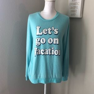 Sweaters - Let's Go On Vacation Teal Sweater